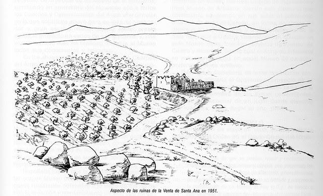 Croquis de la Ermita o Venta de Santa Ana a mediados del siglo XX