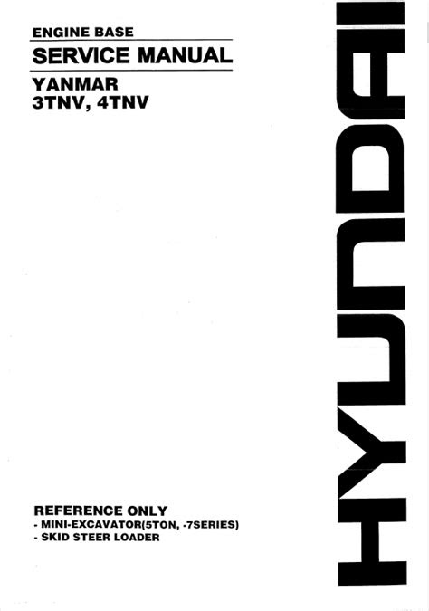 Download Yanmar Engine 3TNV-4TNV Series for Hyundai PDF