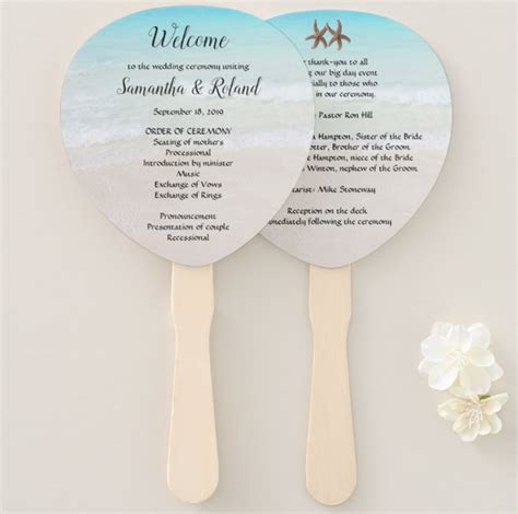 Wedding Program Fan Kits, or Start From Scratch