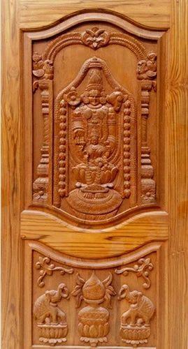 wooden double door carving design  | 590 x 590