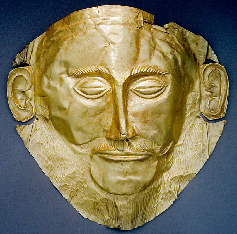 Mykeny-Funeral mask of Agamemnon