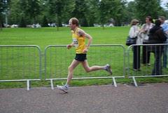 David approaching the finish