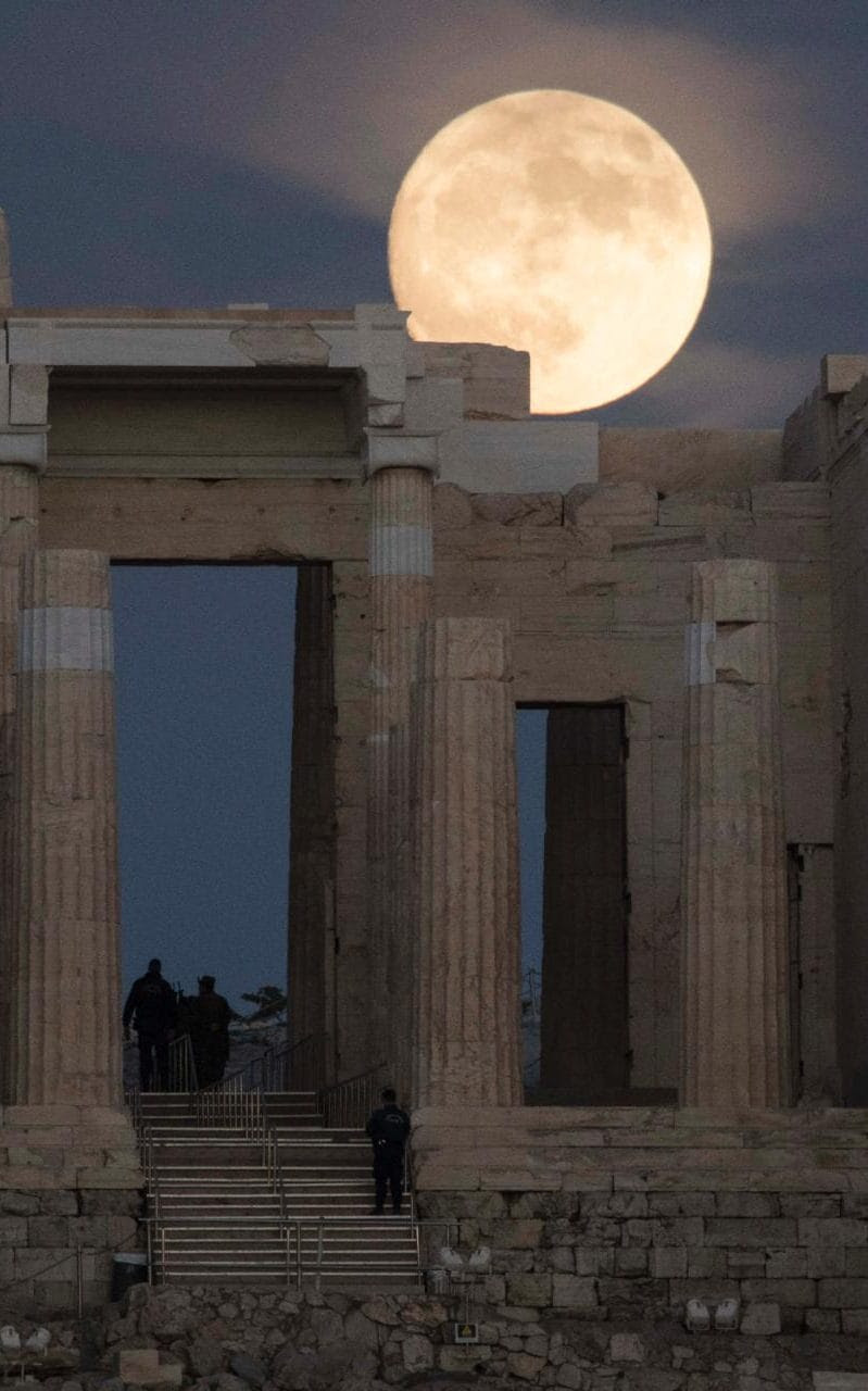 Supermoon pictures worldwide