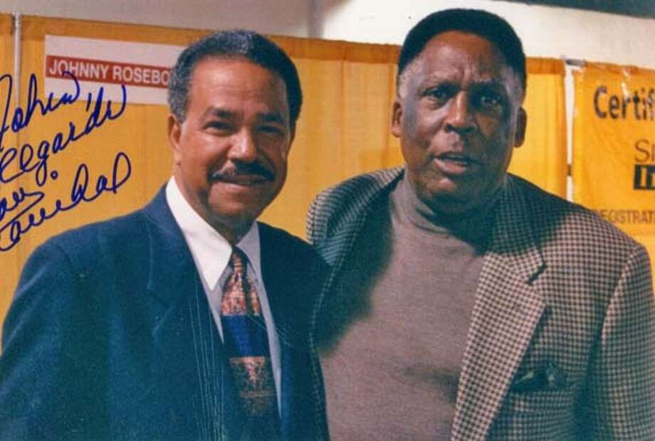 Marichal Juan Marichal and Johnny Roseboro on 8/19/05 in . / HO MANDATORY CREDIT FOR PHOTOG AND SF CHRONICLE/ -MAGS OUT