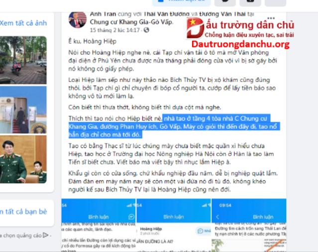 Đối tượng Thái Văn Đường đang ở đâu ?