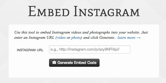 Embed Instagram Photos and Videos