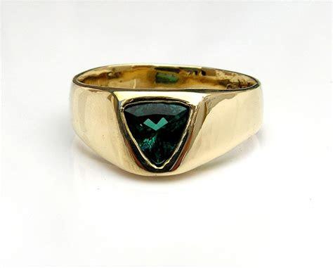 custom  mens blue tourmaline ring   gold  evb