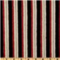 Minky Cuddle Candy Cane Black/Red