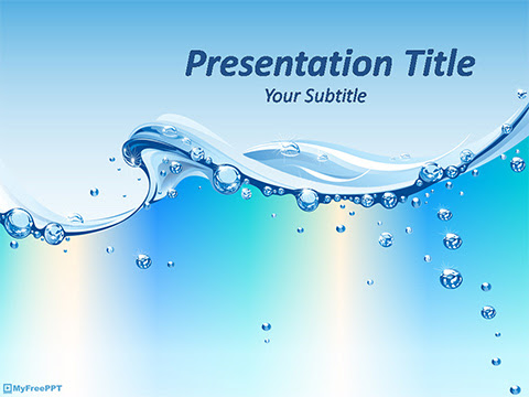 Free Water Abstract Powerpoint Template Download Free Powerpoint Ppt