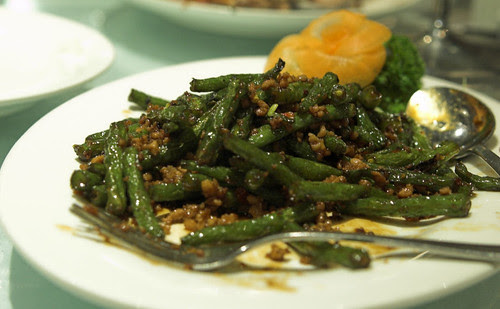 Green beans with mince