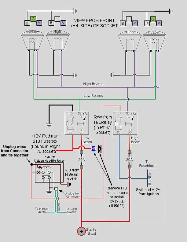 Headlight Relay Harness The 510 Realm