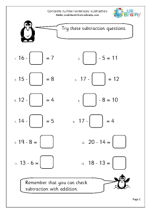 missing number worksheet new 313 missing number sentences worksheet ks2. Black Bedroom Furniture Sets. Home Design Ideas