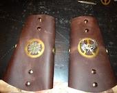 Steampunk Leather Cuffs - charliestayton