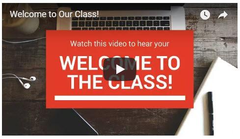 วิดีโอต้อนรับสำหรับหลักสูตรออนไลน์ที่มีคุณภาพ