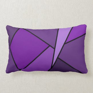 Abstract Purple Polygons Throw Pillow