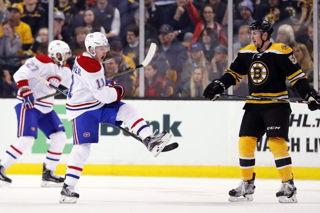 Brendan Gallagher célèbre son but.... (Photo Associated Press)