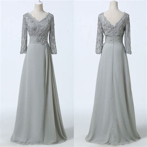 Plus Size Long Lace Masquerade Ball Gown 3/4 Sleeve