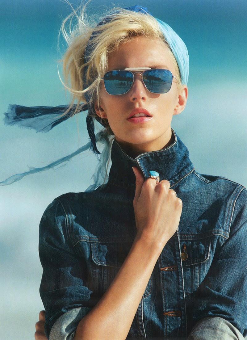Fashion Model Anja Rubik, Vogue Paris, Style inspiration, Fashion photography, Long hair