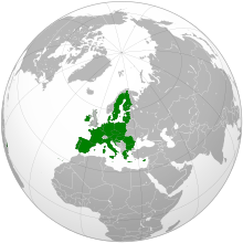 Vị trí của Liên minh châu Âu