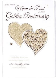 Mum & Dad Golden Wedding Anniversary Card ? Crediton Card