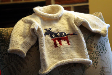 Finished Democrat Sweater