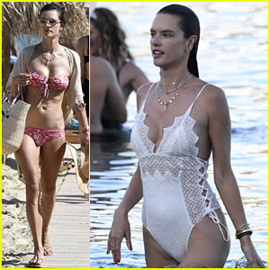 Alessandra Ambrosio Rocks Two Sexy Swimsuits on Vacation in Greece!