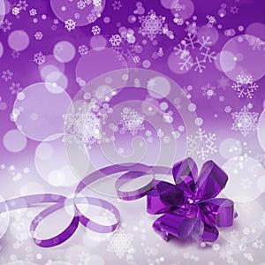 Purple Christmas gift background