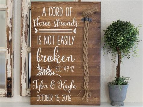 A Cord Of Three Strands Is Not Easily Broken. Ecc 4:9 12