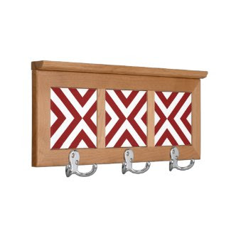 Red and White Chevrons Coat Racks