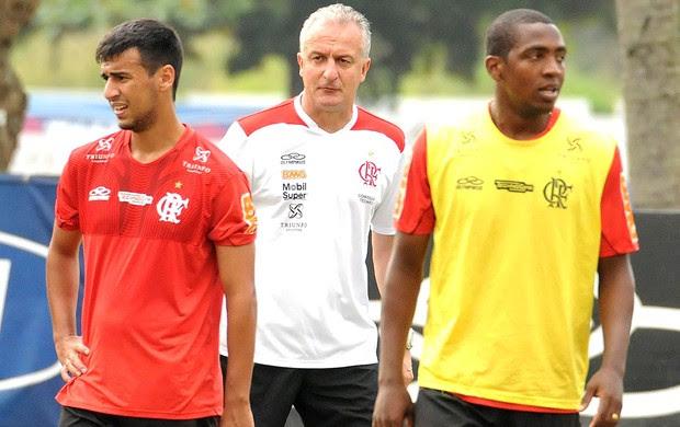 Camacho, Dorival e Renato, treino do Flamengo (Foto: Alexandre Vidal / Fla Imagem)