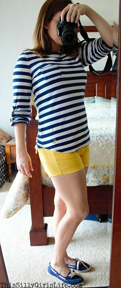 Casual Nautical Inspired Outfit from http://ThisSillyGirlsLife.com