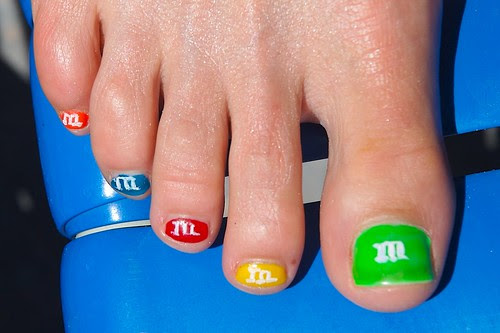 Candy Toe Painted Nail art designs gallery