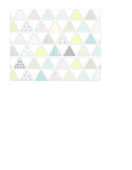 1a pattern-filled triangles LARGE SCALE - A2 card size LANDSCAPE or HORIZONTAL
