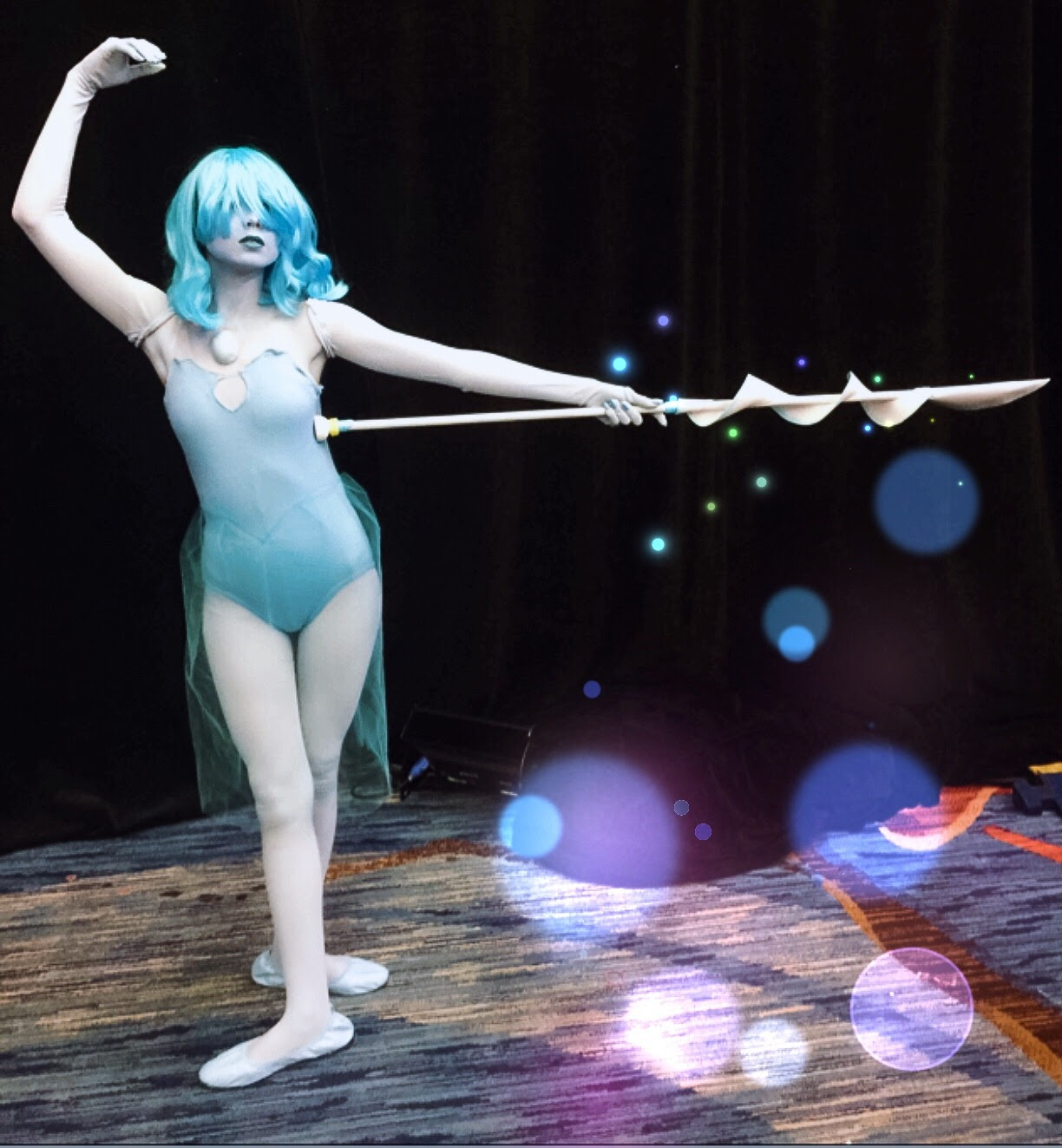 I was blue pearl for comic con day 2!!