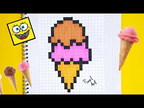 Dasar Pencarian Uang Di Internet Glace Kawaii Dessin Pixel Art Facile