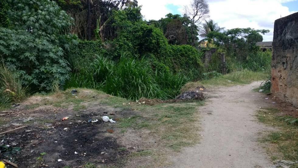Local onde a vítima foi estuprada por cerca de dez homens.