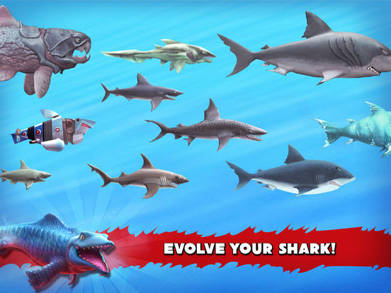 โหลดเกมส์ Hungry Shark Evolution APK HACK