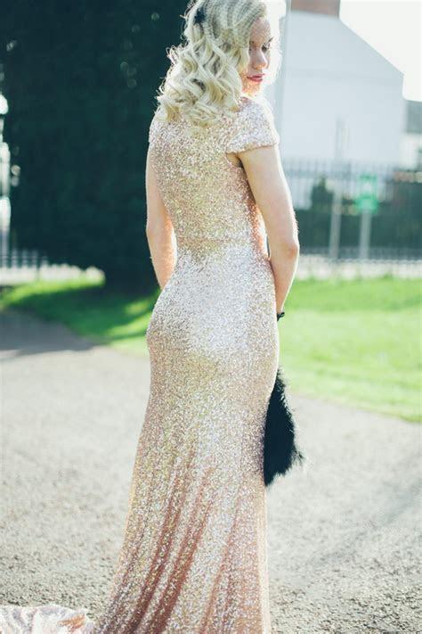 10 Gorgeous Sequin & Glitter Wedding Gowns