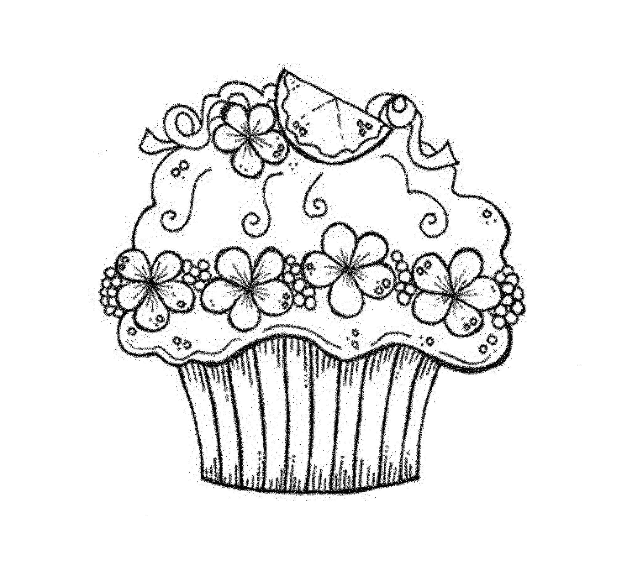 5000 Top Coloring Pages Printable Cupcake For Free