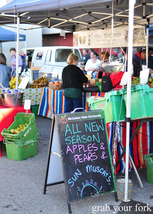 Miss Merbein produce at the Adelaide Showground Farmers Market