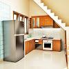 Dekorasi Desain Dapur Ada Tangga Terbaru