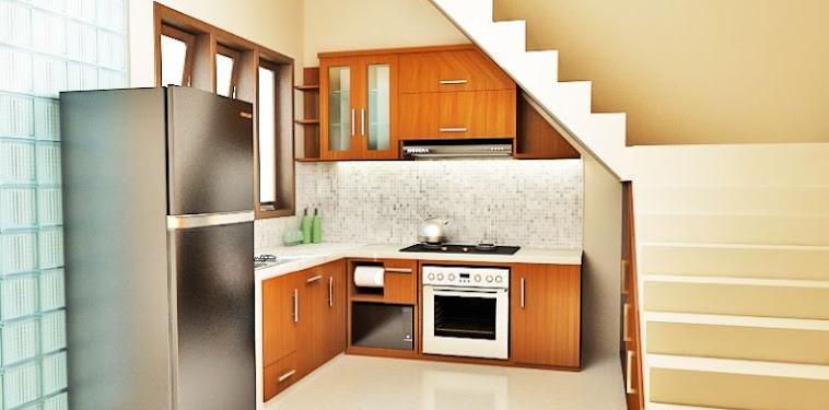 Dekorasi Desain Dapur Minimalis Di Bawah Tangga Terbaru