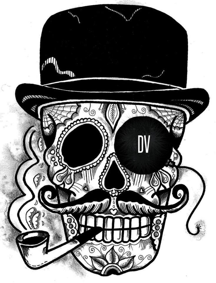 Skull With Top Hat Drawing At Getdrawingscom Free For Personal