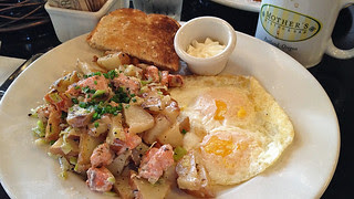 Portland - Wild Salmon Hash at Mother's Bistro