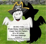 Pirate Matey Ghost of the Coast Yard Art Woodworking Pattern - fee plans from WoodworkersWorkshop® Online Store - pirates,childrens,kids,swords,childs,buchaneers,Halloween,yard art,painting wood crafts,jigsawing patterns,drawings,jig sawing plywood,plywoodworking plans,woodworkers projects,workshop blueprints