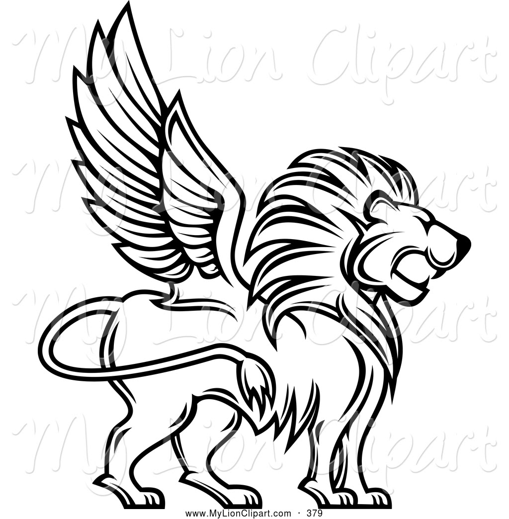 lion coloring pages clipart of a coloring page outlined winged lion profile by seamartini graphics 379