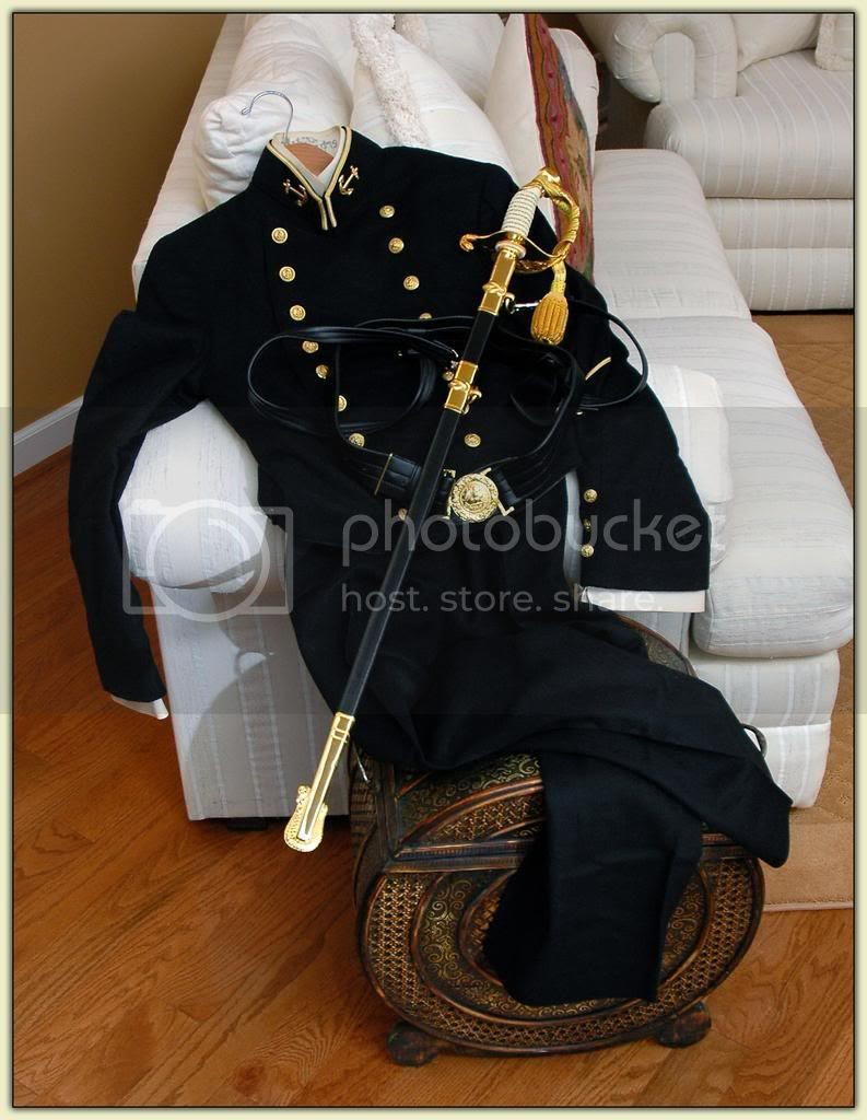 Houston Steve's Navy dress uniform
