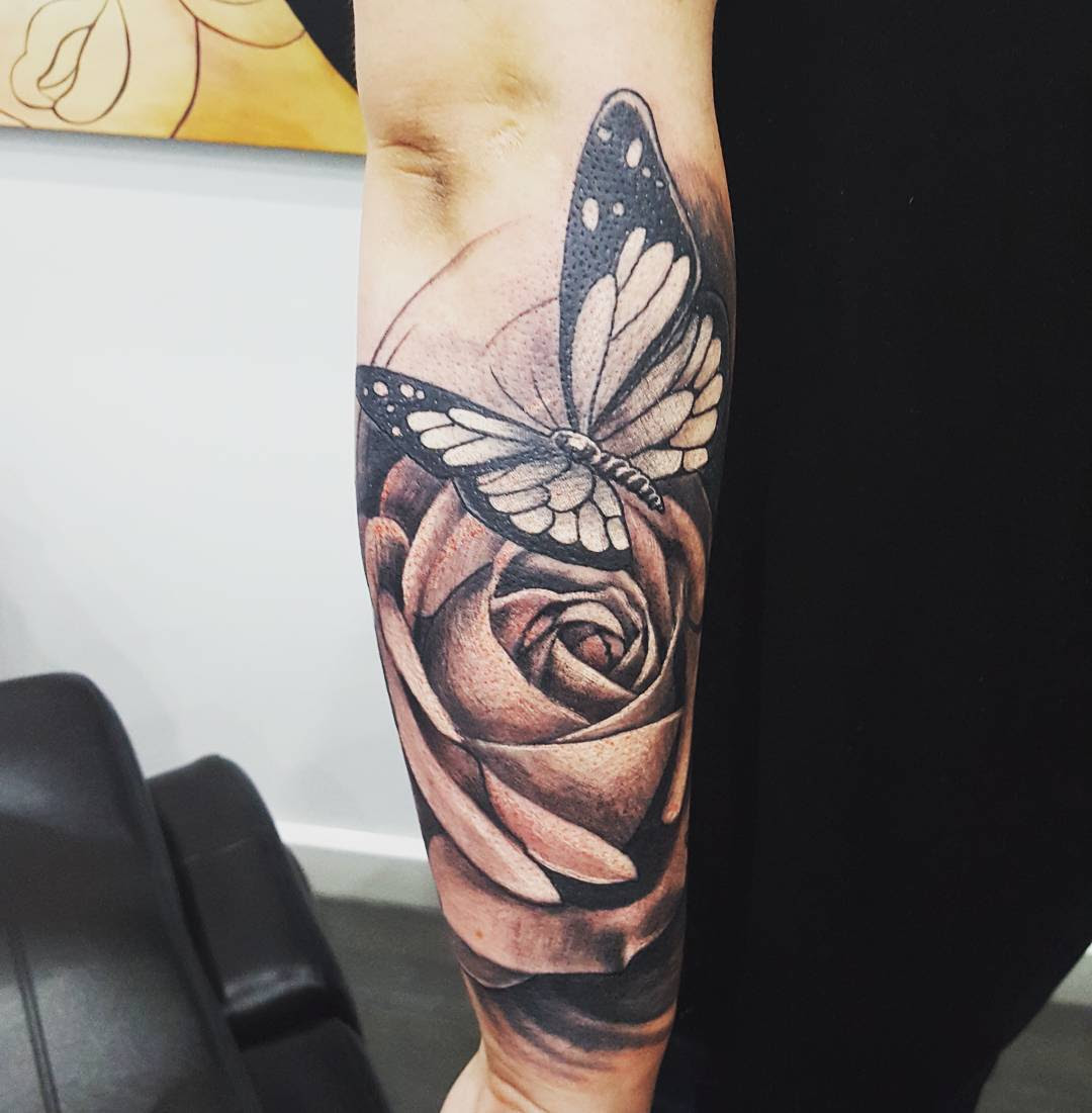 28 Awesome Butterfly Tattoos With Flowers That Nobody Will Tell You