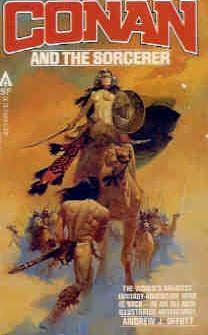 book cover of   Conan and the Sorcerer