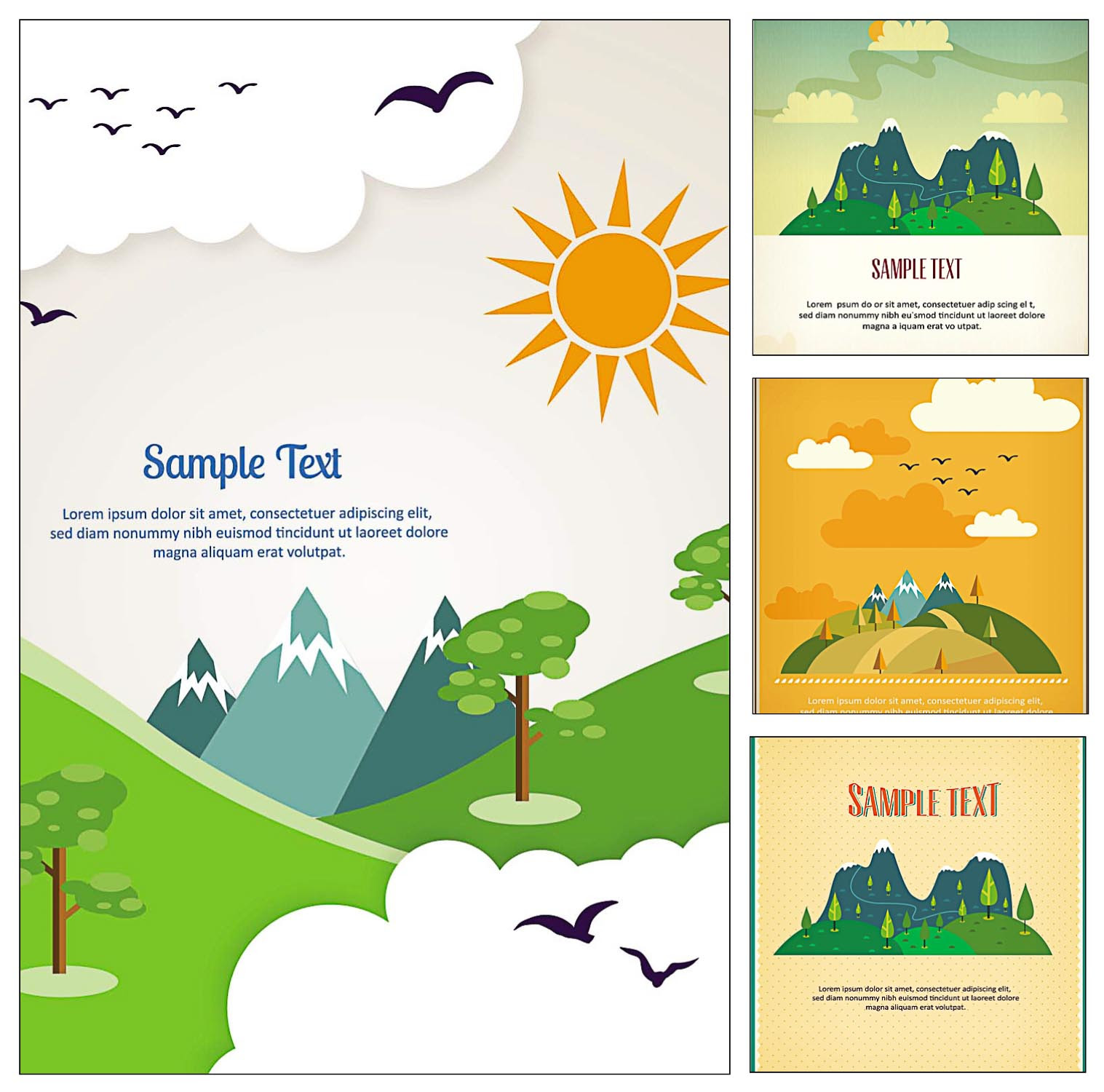 Travel postcard illustration vector | Free download